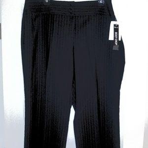 New Ladies Black Stripped Boot Cut Palazzo Pants